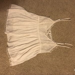American Eagle Outfitters Tops - Babydoll Crop Top with Lace